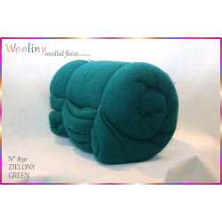 WOOLINY needled fleece - ZIELONY (NR 830)